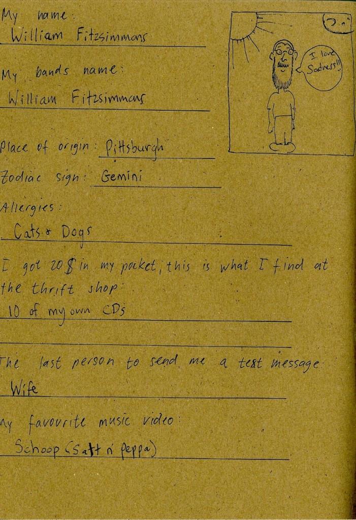 William Fitzsimmons - Friendsbook - 1