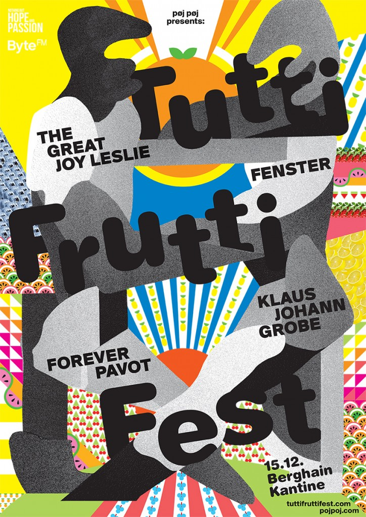 Tutti Frutti Fest - poster by Go! Grafik