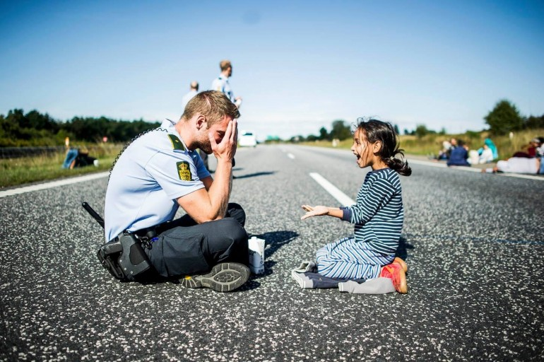 Danish Police Officer - Refugees