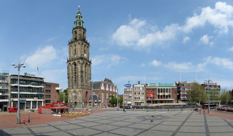 Best place for sipping on local beers and looking out onto the Martini Tower: The Grote Markt