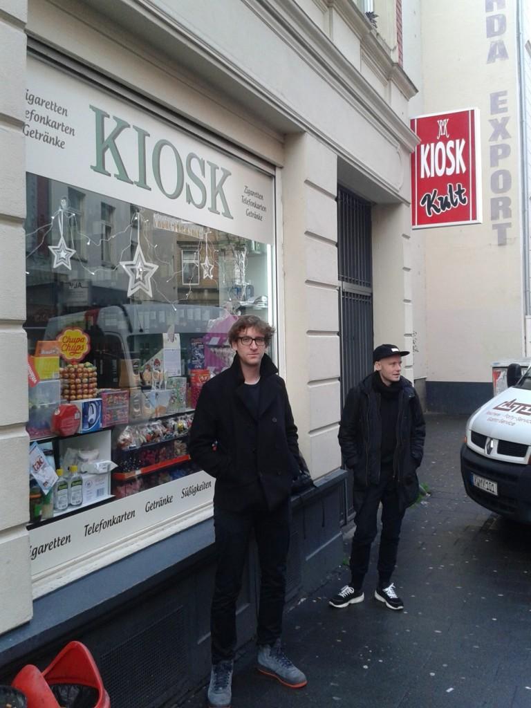 Hanging around at their beloved 'Kiosk'