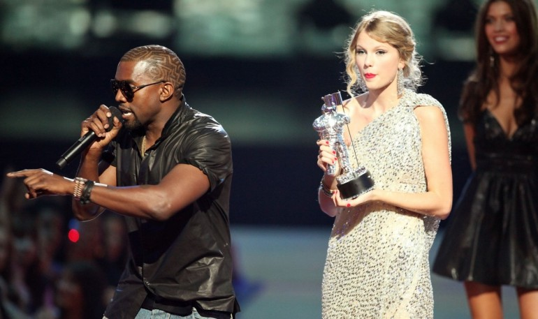 Kanye West & Taylor Swift. Looks like this friendship is off the table for a while.