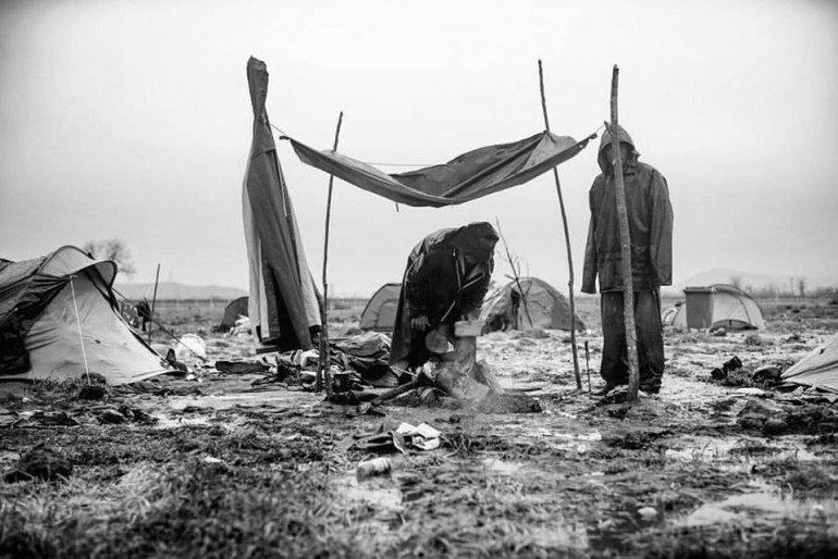 A haunting shot from Idomeni last week (Photo by Bastian Fischer)