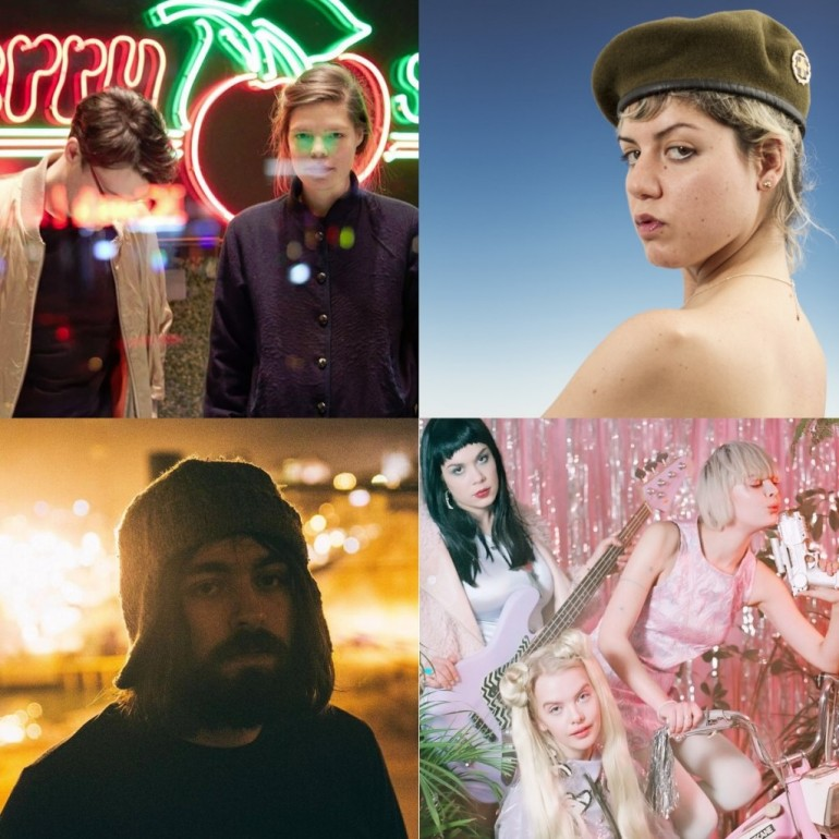 From top left to down right: Me Succees, Krista Papista, Fog Lake, Dream Wife