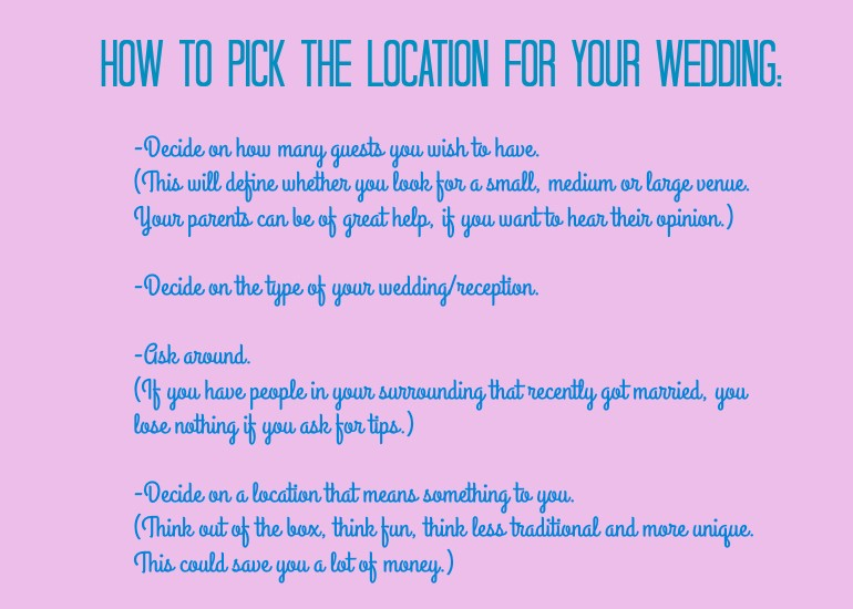 How to pick the location for your wedding