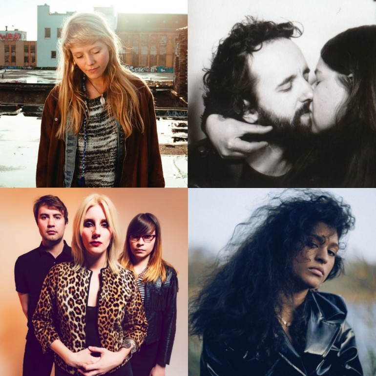Clockwise from top left to town right: Alice Phoebe Lou, Kraków Loves Adana, Nadia Nair, White Lung