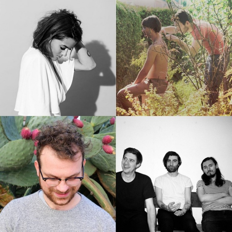 Clockwise from top left: Ella On The Run, Klaus Johann Grobe, PAWS, Stephen Steinbrink