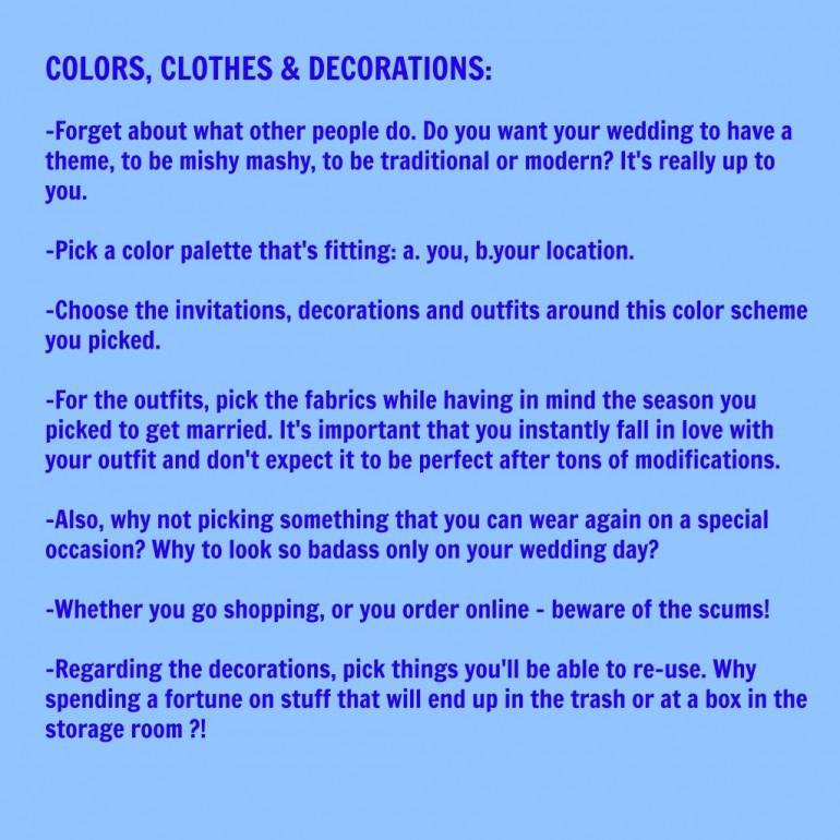 Colors, Clothes & Decorations