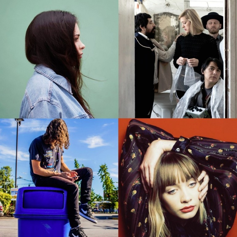 Clockwise starting from top left: Liv Dawson, Exploded View, Alexandra Savior, sir Was
