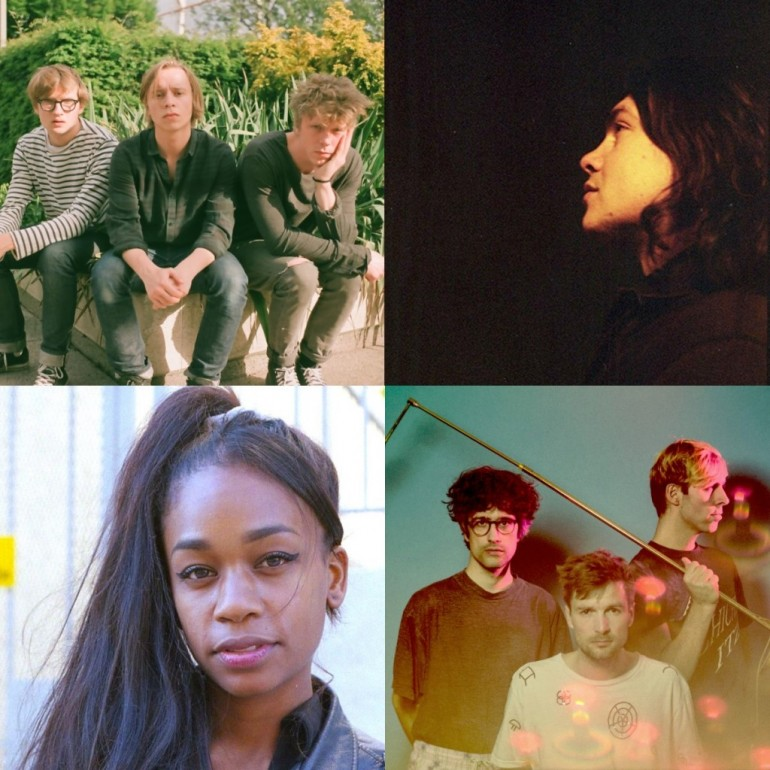 Clockwise from top lef: Slaughter Beach, Toothless, The/Das, ABRA