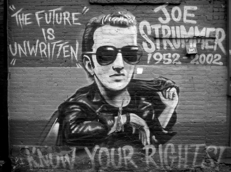 Mural of legendary THE CLASH singer Joe Stummer