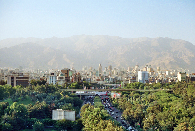 A view from Tehran (picture by Bastien Perroy).