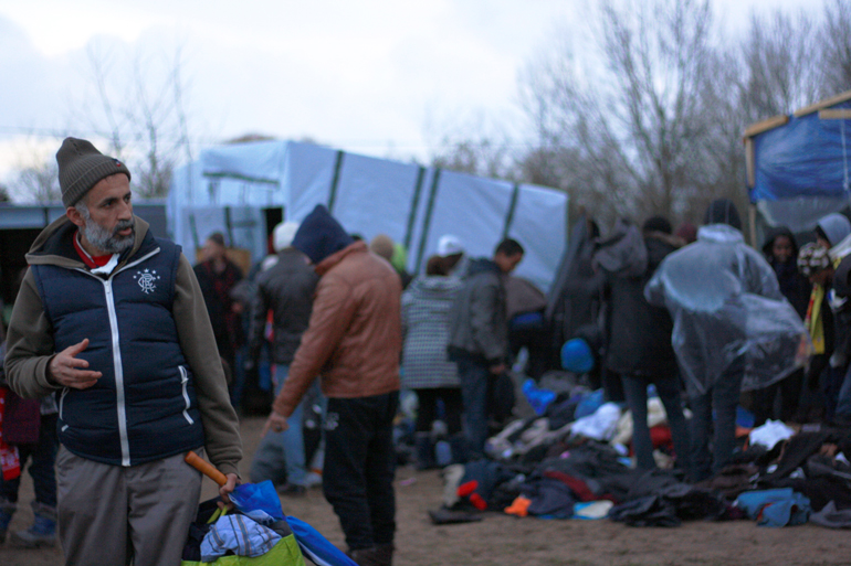 Calais Migrant Camp, Picture by Bastien Perroy (jan-2016)