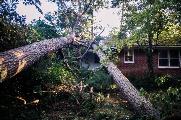 The aftermath of Hurricane Matthew, South Carolina