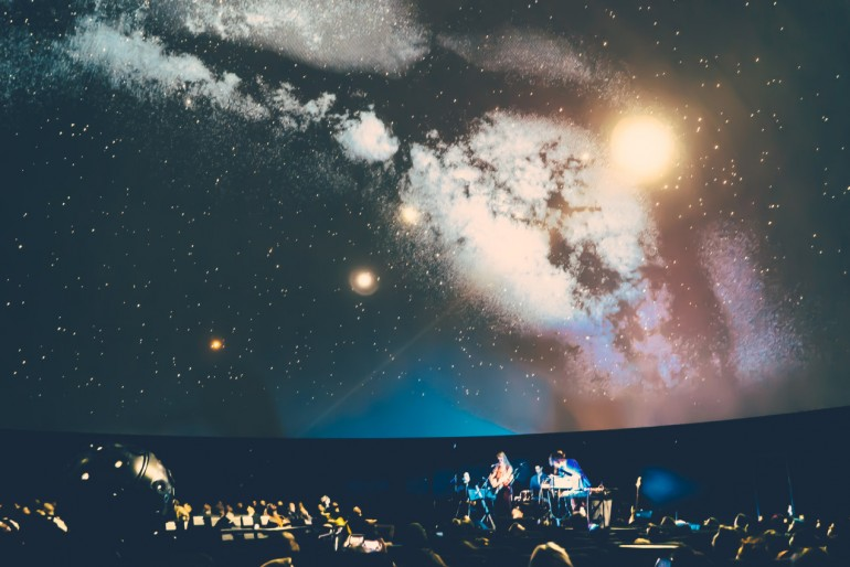 Live at the Planetarium in Berlin (Photo by Clayton Haskell)