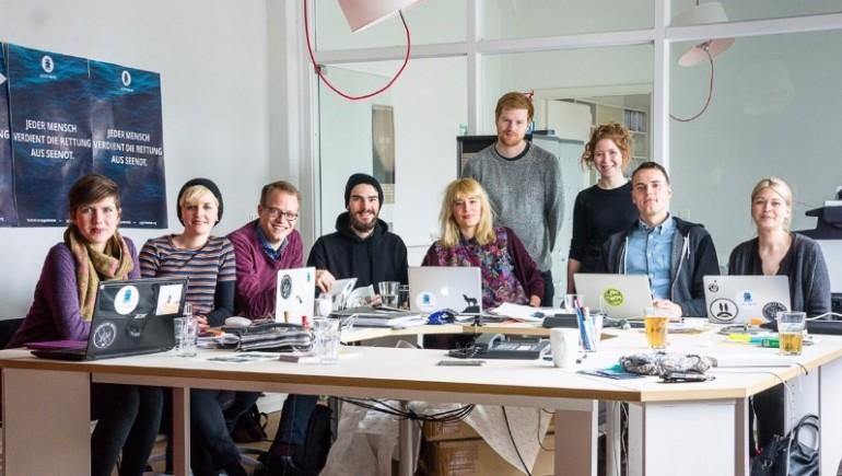The Berlin team of 'Jugend Rettet'